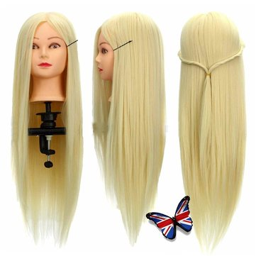 30% Real Human Hair Training Head Salon Hairdressing Cut Mannequin With Clamp