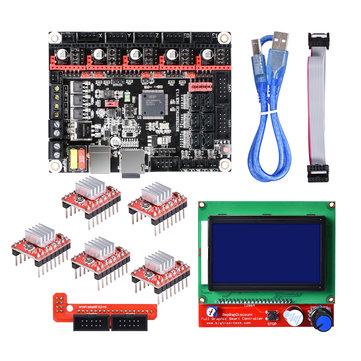 Original SKR V1.3 Placa base de mesa de Smoothie de 32 bits + 12864 LCD Pantalla + Kit 5xA4988 para impresora 3D