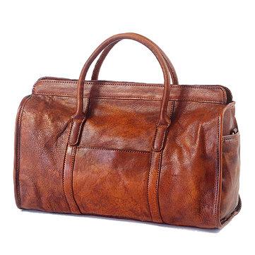 الرجال النساء جلد طبيعي اليدوى تلطيخ الرجعية هانغباغ الكتف حقيبة كروسبودي