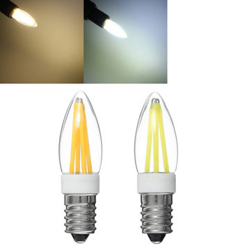 E14 Dimmable 3W White/Warm White LED Filament Light Bulb Chandelier Indoor Lamp AC220-240V