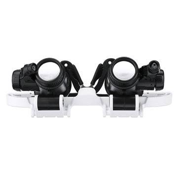 9892H1 8x/15x ABS Head-mounted Magnifier Glasses Magnifying Glass White