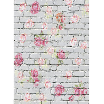 5x7ft Vinyl Photography Backdrop Baby Flower Wall Photo Background Studio Prop