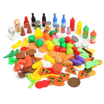 120 in 1 Food Vegetival Fruit Toy Suit Preschool Pretend Kitchen Play Set Children Gift Developmenta