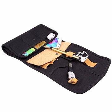 D-park Little Oxford Leather Wallet Case Waterproof Bag Portable Handbag Phone Case Makeup Bag