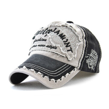 Canvas Letter Printted Patchwork Peaked Cap Spring Vogue Outdoor Leisure Visor Baseball Hats For Men