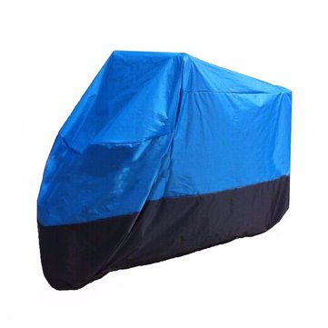 Street Sport Shelter Bikes Motorcycle Cover Waterproof Black Blue