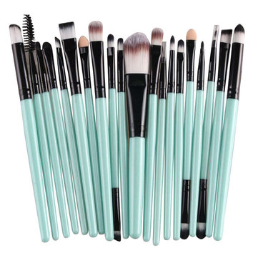20pcs Makeup Brushes Kit Set Brush Blush Foundation Liquid Eyeshadow Eyeliner Comestic Powder