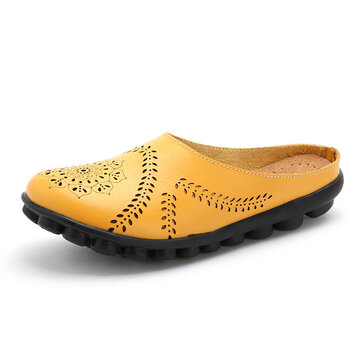 Hollow Out Pure Color Soft Casual Flats Women Shoes