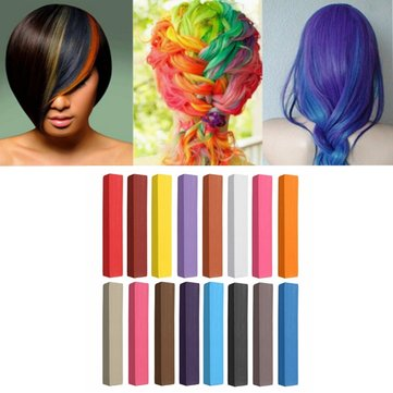 17 Colors Hair Coloring Chalk Non-toxic Temporary Hair Dye Crayon