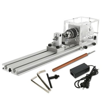 Raitool™ 80W DC 24V Mini Lathe Beads Machine Woodworking DIY Lathe Standard Set