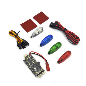 4 PCS 12V RC Night Light w/ LED Controller Board Built-in Buzzer 2-6S Input for RC Racing Drone