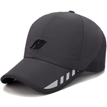 Men Stripe Baseball Cap Outdoor Sport Mesh Sunshade Hats