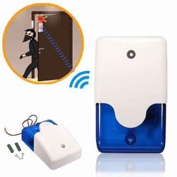 Mini Wired Flashing Light Strobe Siren for Wireless Alarm Safety System 115dB