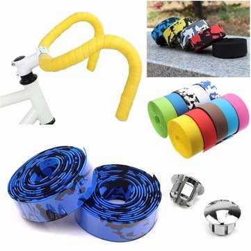 BIKIGHT Bike Cork Handlebar Tape with Bar Plug Bicycle Bar Wrap Ribbon