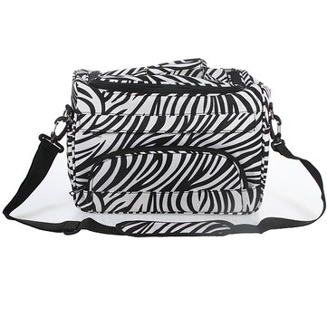 Salon Hair Tools Hairdressing Zebra Carry Case Diaper Duffle Bag