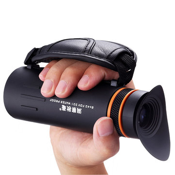 IPRee 8×42 HD Night Vision Handheld Monocular Outdoor Camping Travel Clear Zoom Optical Telescope