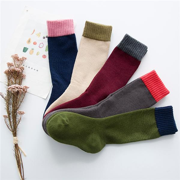 5 Pairs Childrens Boys Girls Five Colors High Hosiery Stocking Pure Cotton Soft Socks