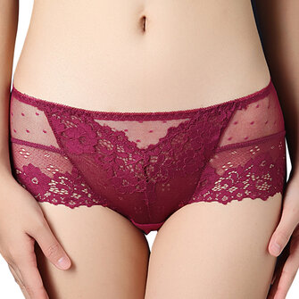 Sexy Lace Stretched Breathable High Waist Cotton Panties