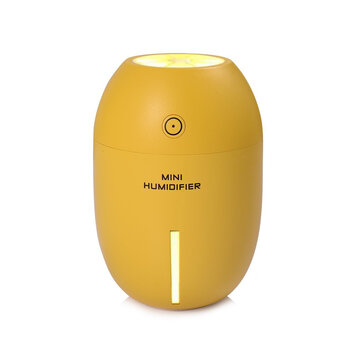 Loskii HP-203 Lemon Night Light USB Humidifier Portable Mini 180ML Cool Mist Car Air Purifier Steam Diffuser