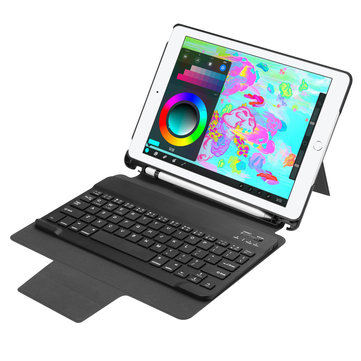 Detachable Bluetooth Keyboard Kickstand Case For New iPad 9.7