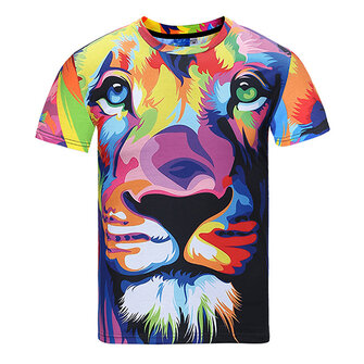 Summer Men's Fashion Casual 3D Dog Print Short Sleeve T-Shirt Loose Soft Comfortable T-Shirt