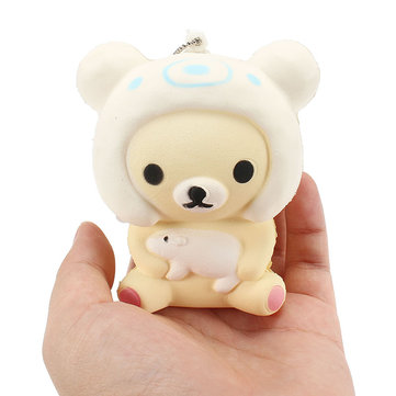Squishy Bear Doll 7cm Soft Slow Rising Met Ball Chain Tag Telefoon Bag Band Collection Gift Decor Toy