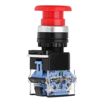 22mm Self-locking Button Switch Power Mushroom Round Emergency Stop Switch