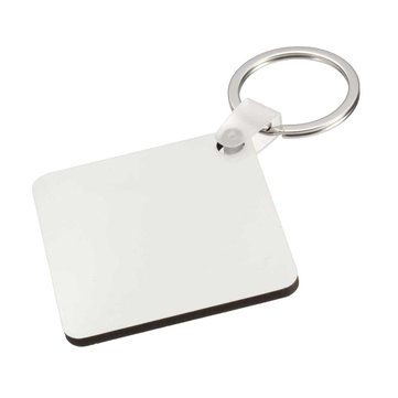 10x Square Blank MDF Board Key Ring Heat Transfer Printing Key Rings For Heat Press Machine