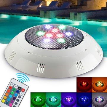 9W RGB télécommande LED piscine lumière sous-marine étanche lumière de la nuit Atmostphere lumière