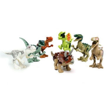 8pcs Different Dinosaur World Building Blocks Mini Figures Toys