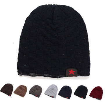 Unisex Winter Warm Skull Knit Beanie Cap Dual Wearable Men Women Riding Skiing Hat