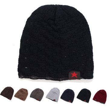 Unisex Kış Sıcak Kafa Tası Örme Beanie Cap Çift Giyilebilir Erkekler Kadın Binicilik Kayak Şapka