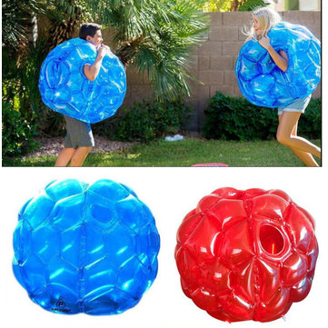 60cm PVC Inflatable Toys Bubble Garden Camping Outdoor Children Game Football Soccer Bouncing Ball