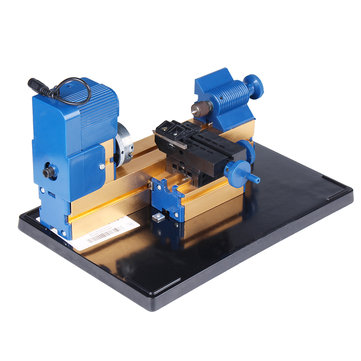 12V DC 2A 24W Multi-purpose Mini Wood Lathe Aluminum Lathe Machine