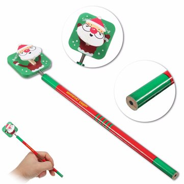 Santa Snowman Tree Deer Wooden Pencils Stationery Christmas Gifts for Children