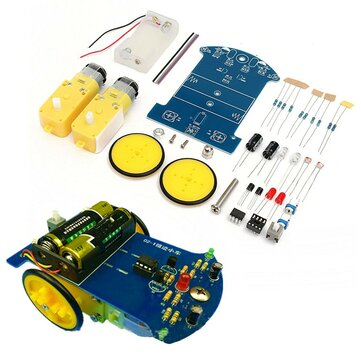 3V Tracking Smart Robot Car DIY Kit With Reduction Motor Set