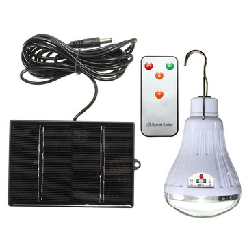 20 LED Solar Light Outdoor Indoor Lamp Hooking Camp Garden Travel Lighting + Remote