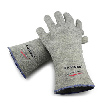 CASTONG 300 Degree Industrial Heating Gloves High Temperature Fire Gloves Fireproof Working Gloves