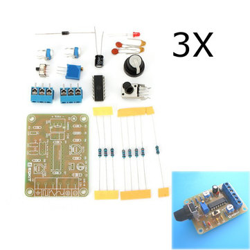 3Pcs DC12 DIY ICL8038 Function Signal Generator Kit Sine Triangle Square Wave Signal