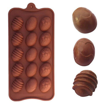Easter Egg Shape Silicone Chocolate Mold Baking Cake Cookie Ice Mould Fondant Decorating Tool