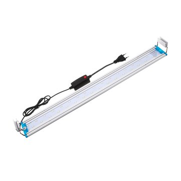 48.5CM Aluminum Adjustable LED Aquarium Light Fish Tank Panel Lamp Blue+White AC220V