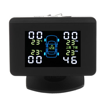 Solar Wireless LCD TPMS Car Tire Tyre Pressure Monitor System External Sensor