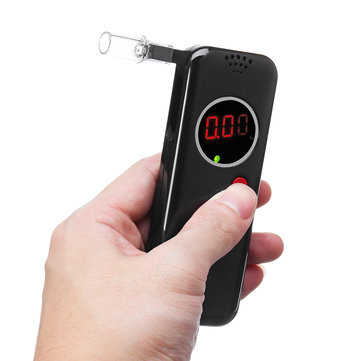 6 Mouthpieces LCD Digital Breath Alcohol Tester Breathalyzer Analyzer Detector