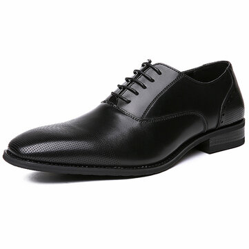 Men Microfiber Dress Shoes Business Oxfords