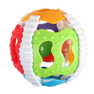 Baby Ring Baby Early Education Bell Baby Soft Glue Six Color Hand Ball Hand Shake Bell Toys