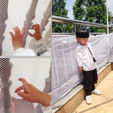 Children Thickening Fencing Protect Nets Climbing Balcony Stairway Child Safety Protection Net White Mesh Children Balcony Stair Gate Baby Thickening Protector Home Toddler Product