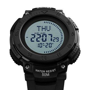SKMEI 1236 Outdoor Men Watch Compass 50M Waterproof Student Digital Wrist Watch