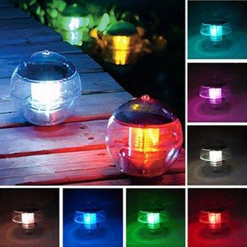 Waterproof LED Solar Floating Light Multicolor Changeing Hanging Globe Ball Lamp Decor