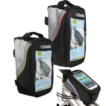 Buy Roswheel Bike Bicycle Pannier Frame Cycling Front Tube Bag For iPhone 6 6S Samsung Cell Phone for $6.66 in Banggood store