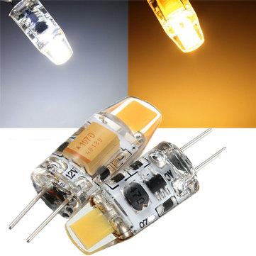 G4 1W COB Filament LED Spotlight Bulb Lamp Warm/Pure White AC/DC 10-20V